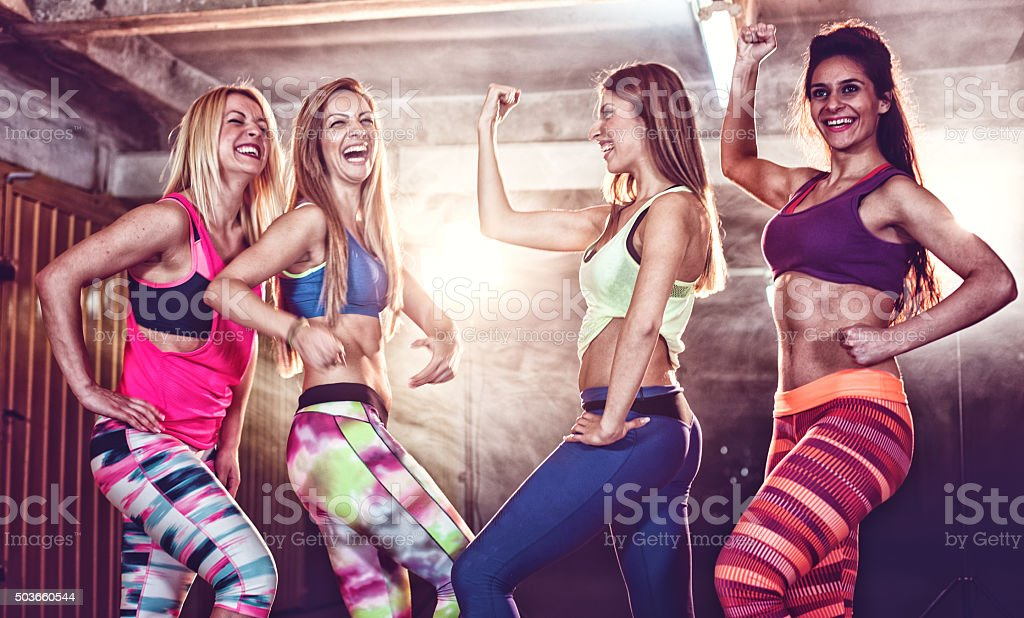 Strong healthy women stock photo