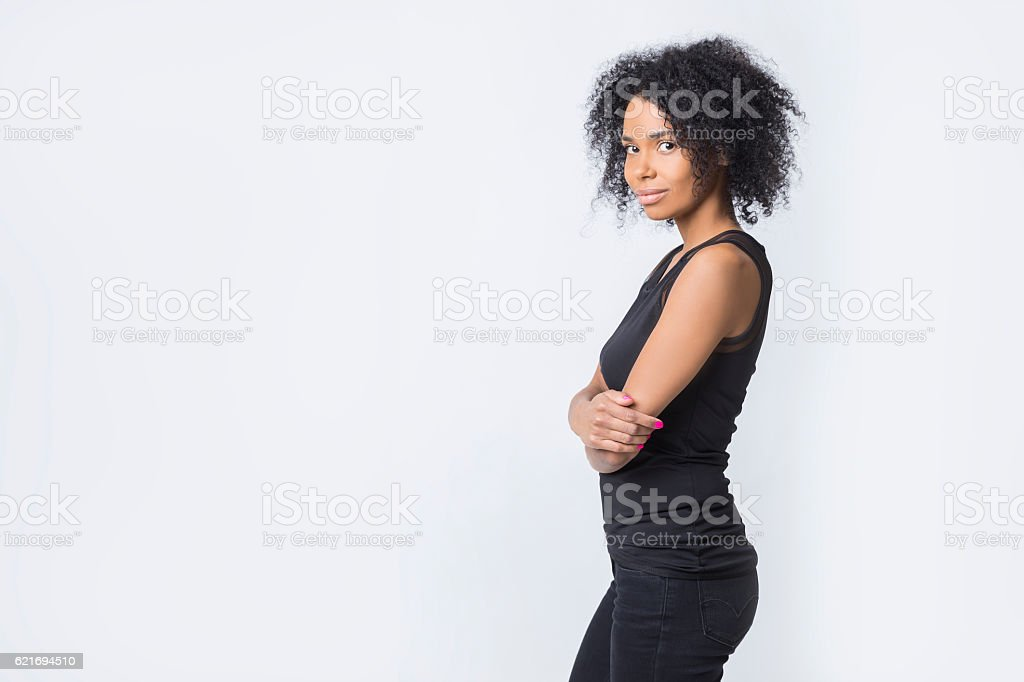Strong independent African American woman stock photo