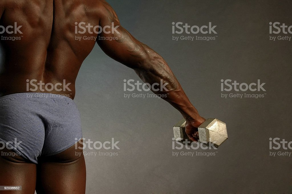 Strong male back royalty-free stock photo