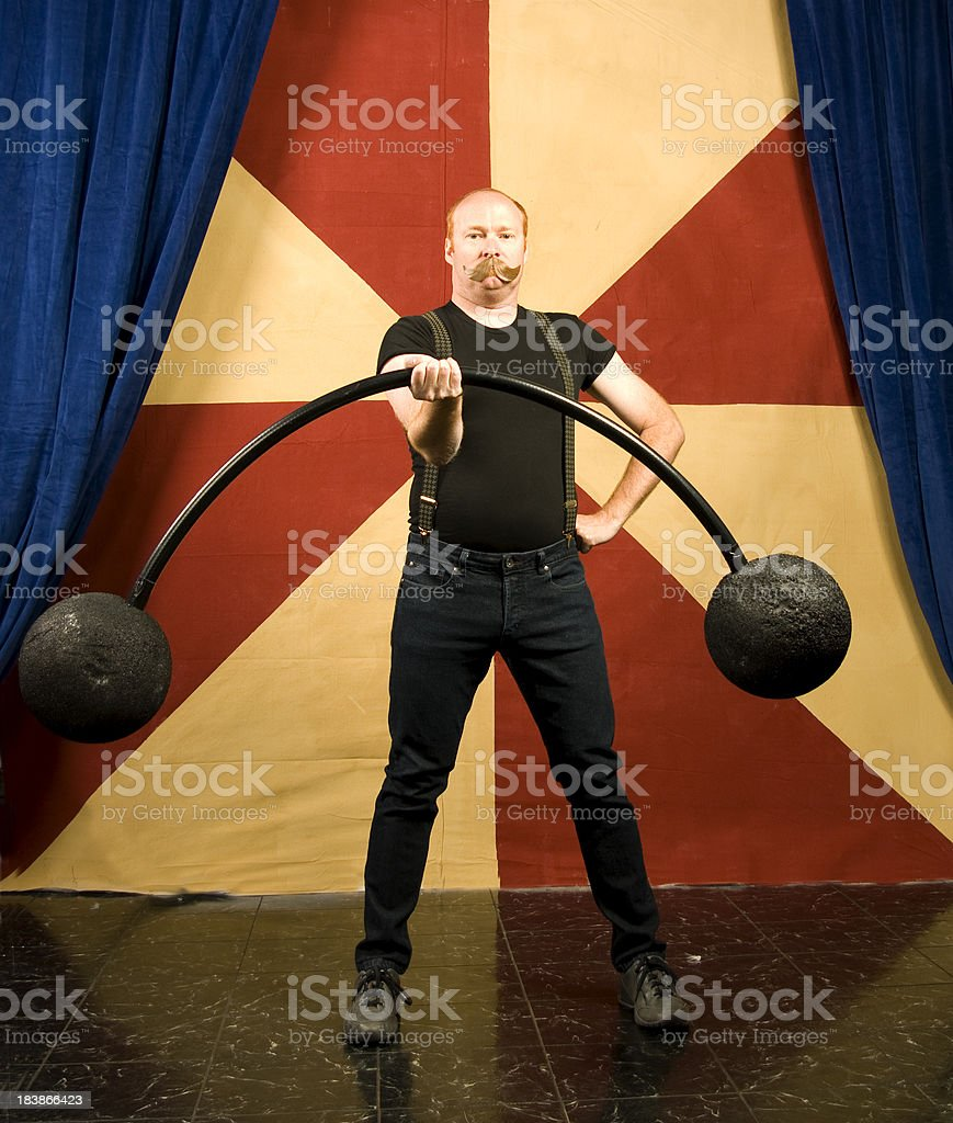 Strong man. stock photo