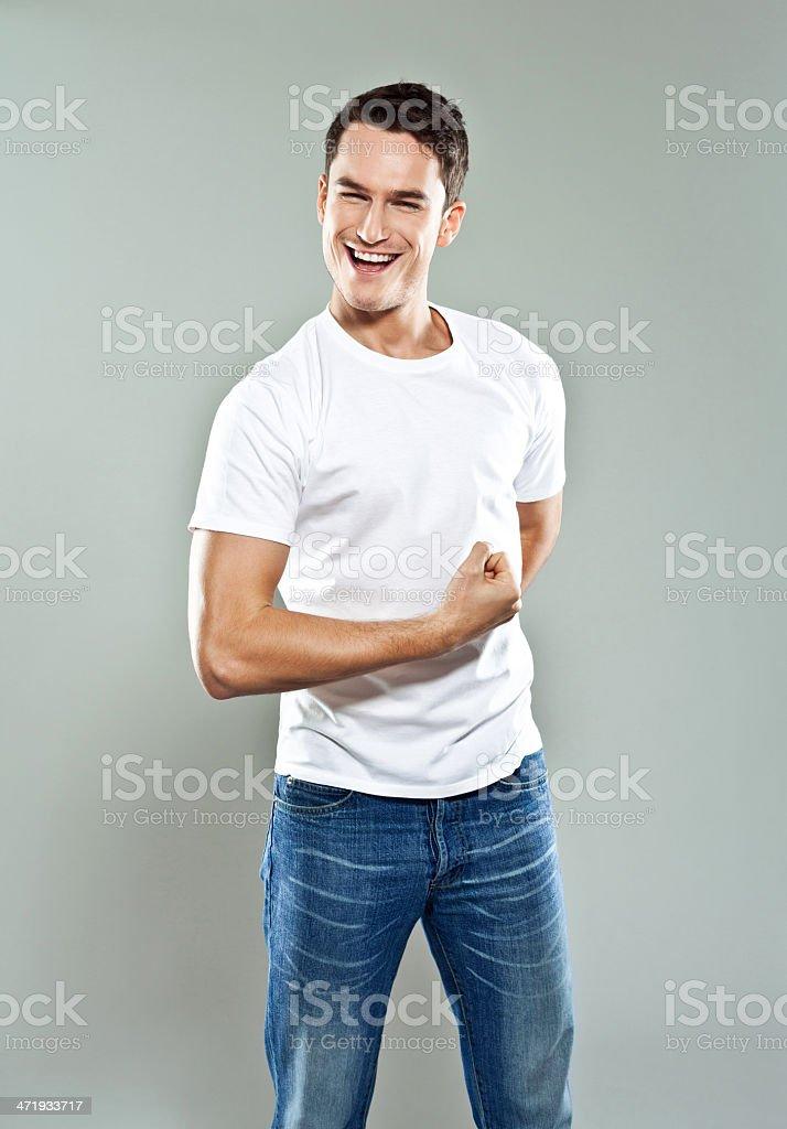 Strong man royalty-free stock photo