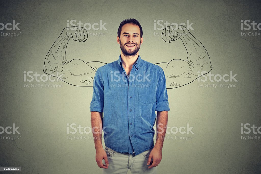 Strong man stock photo