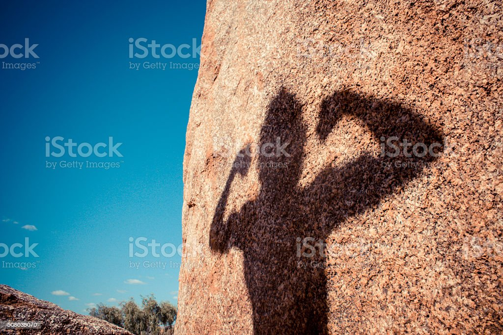 Strong Man Silhouette stock photo