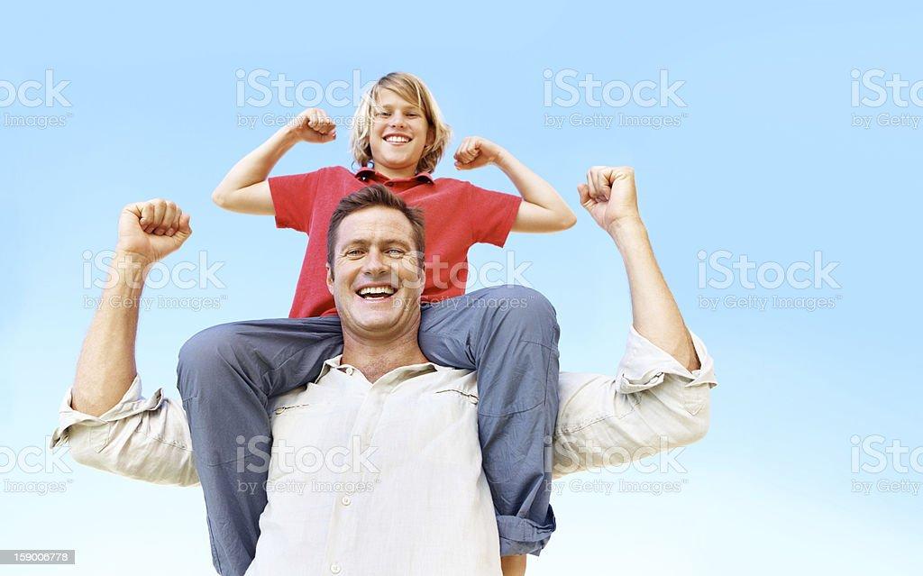 Strong men royalty-free stock photo
