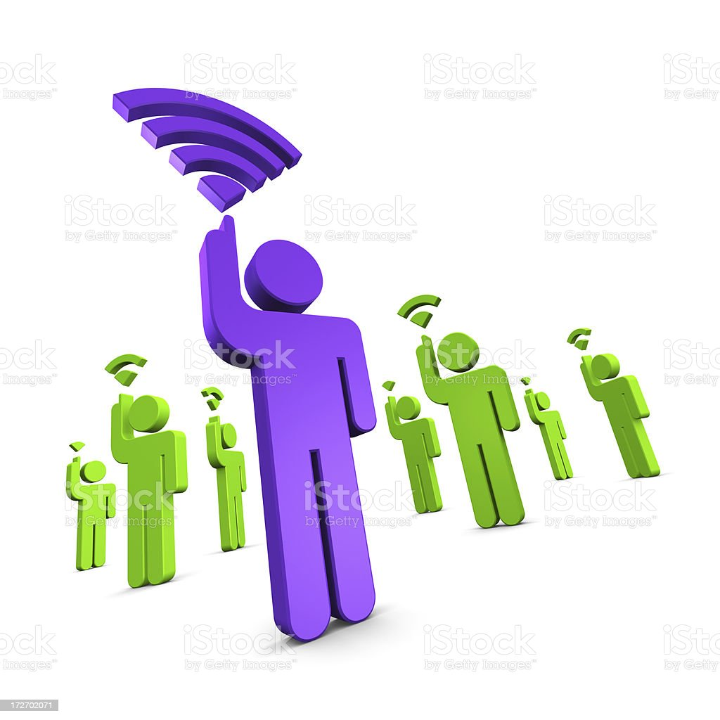 Strong Phone Signal stock photo