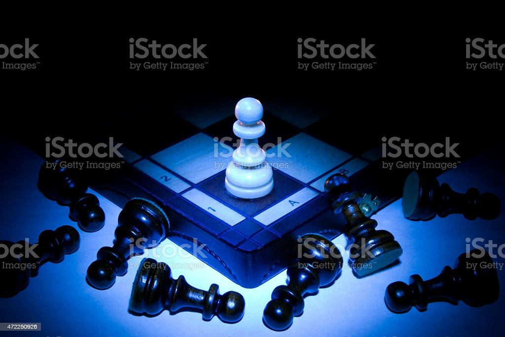 Strong player (chess metaphor) stock photo