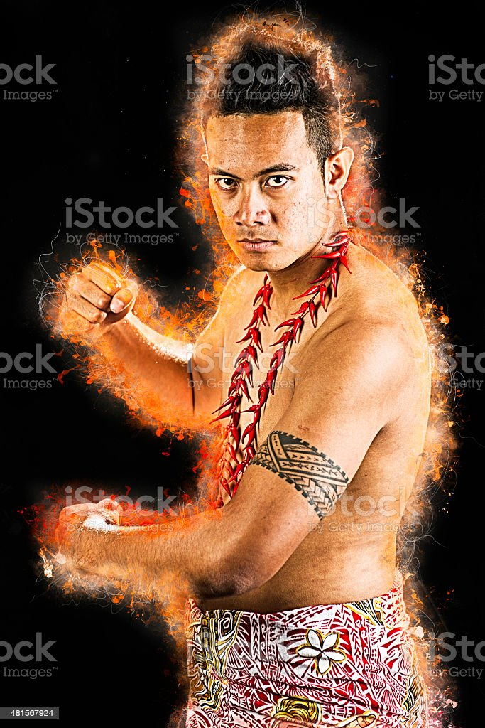 Strong pose stock photo