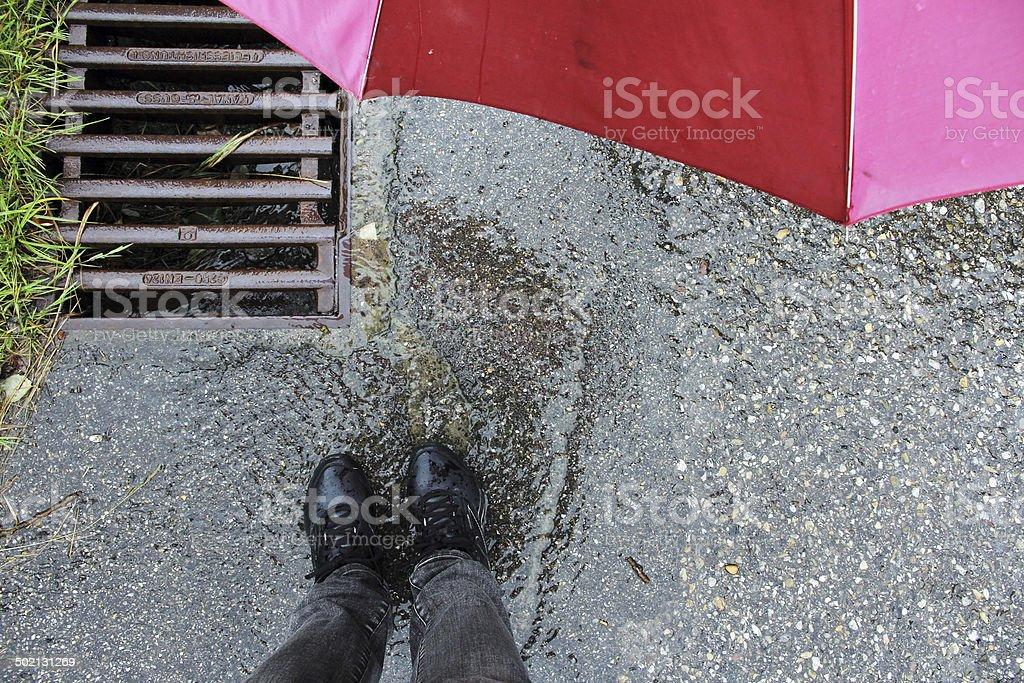 strong rain stock photo