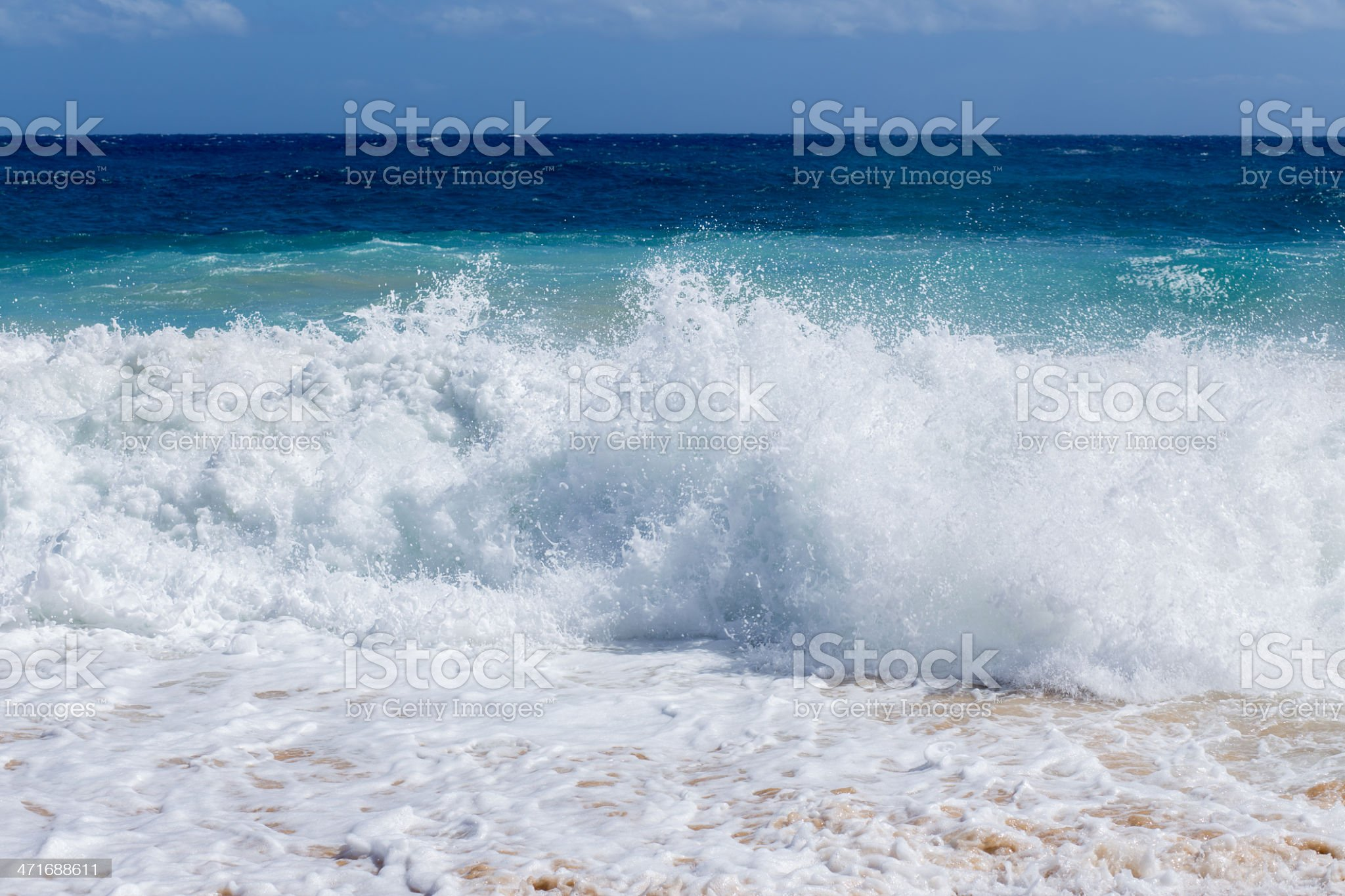 Strong sea wave royalty-free stock photo