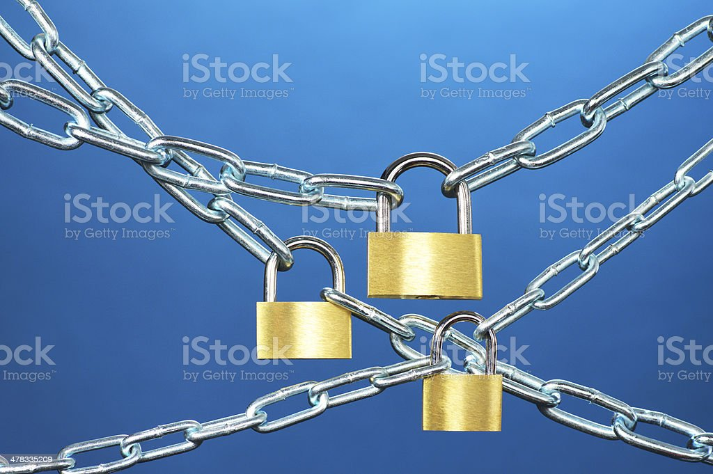 Strong security systems. royalty-free stock photo