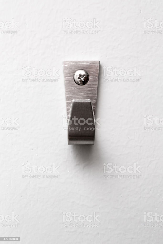 Strong Steel Wall Hanger. stock photo