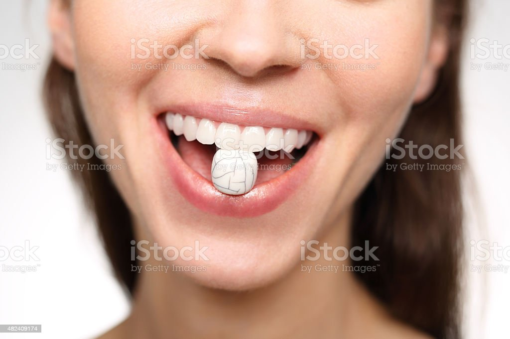 strong tooth enamel stock photo