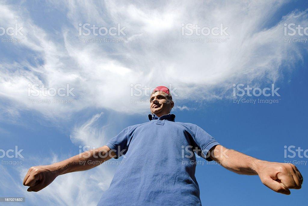 Strong Turkish Man royalty-free stock photo