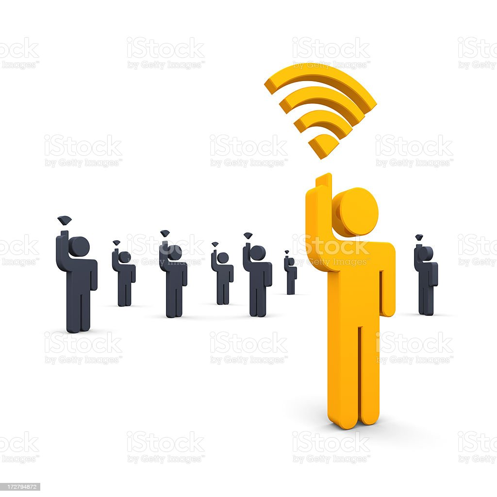 Strong Wi-Fi Signal stock photo