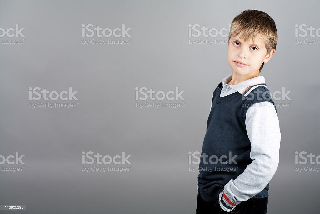 strong willed boy royalty-free stock photo
