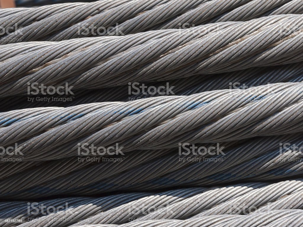 Strong wire rope steel cable royalty-free stock photo