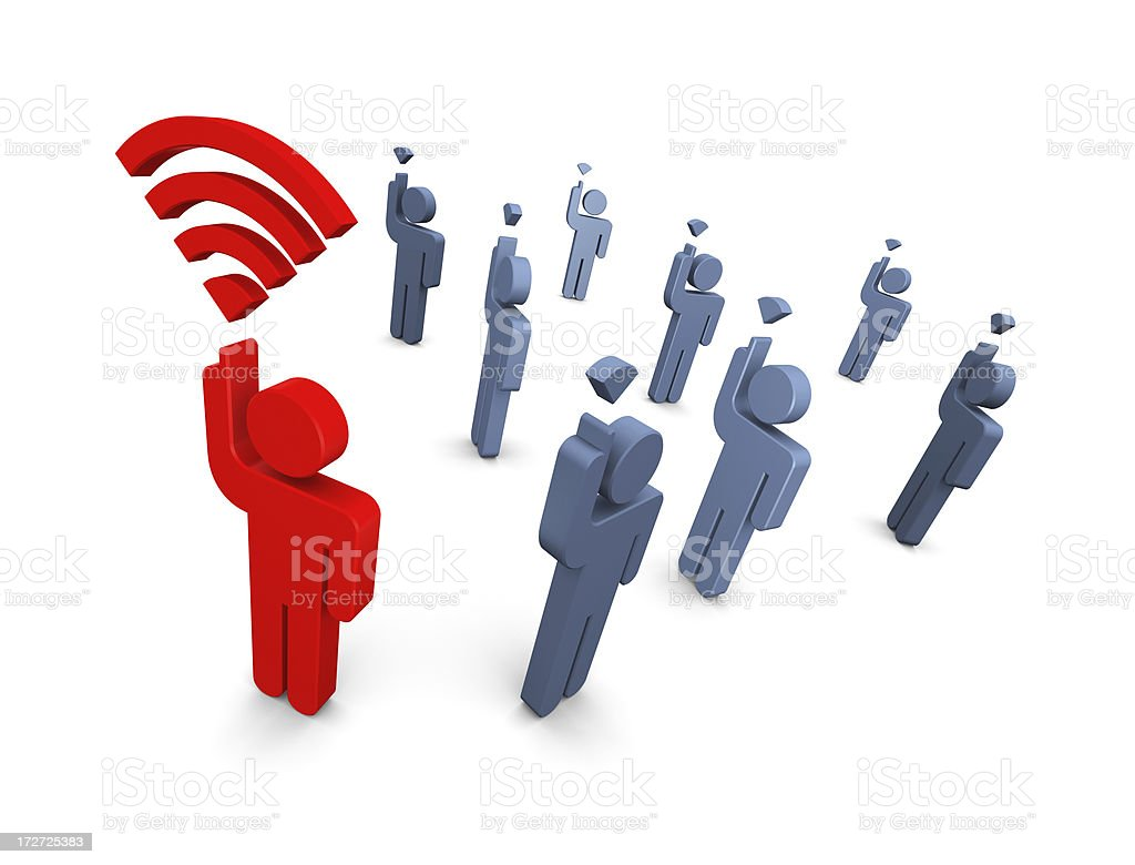 Strong Wireless Signal royalty-free stock photo