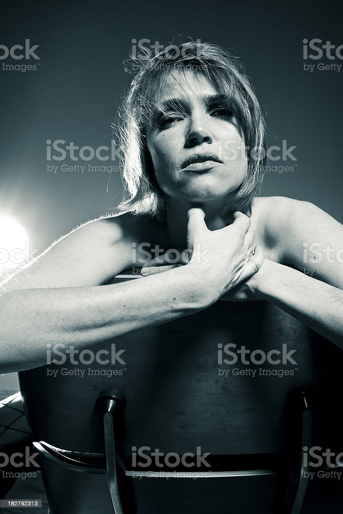strong woman indoor portrait royalty-free stock photo
