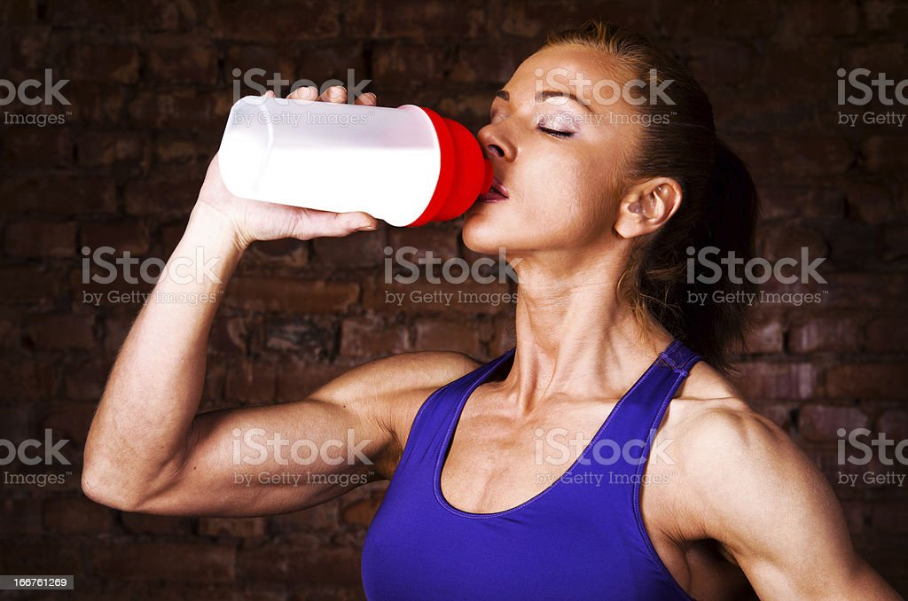 strong woman stock photo