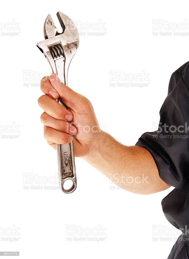 Strong Working Arm royalty-free stock photo