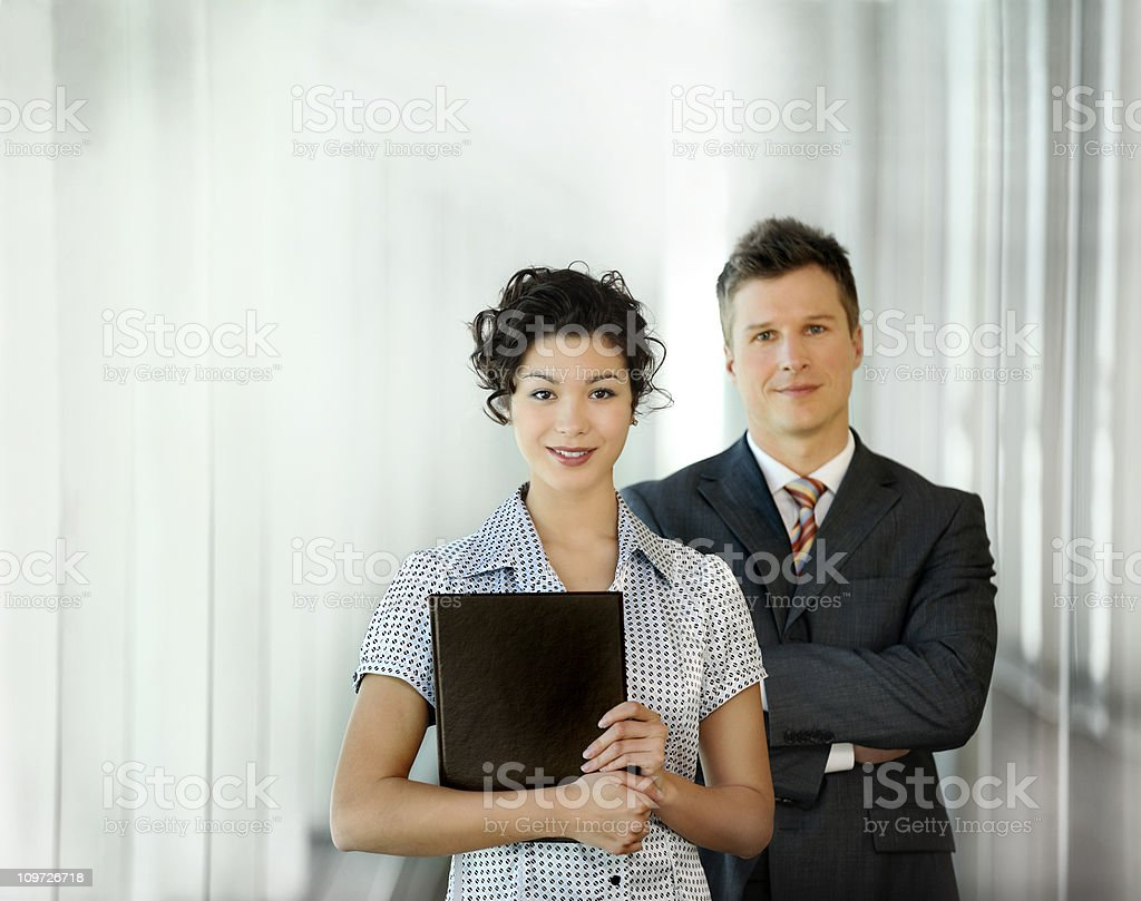 Strong young businesswoman royalty-free stock photo
