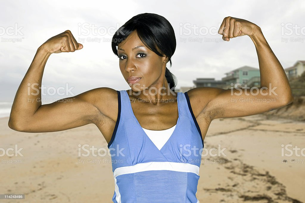 Strongest girl on earth royalty-free stock photo