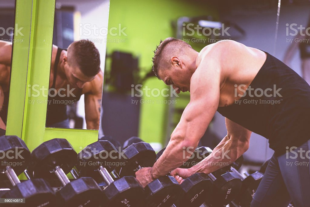 Strongest man in the world stock photo
