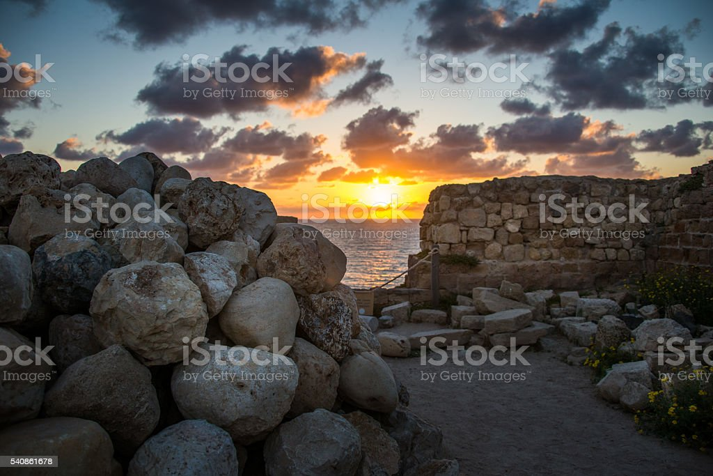 Stronghold in Apollonia National Park stock photo