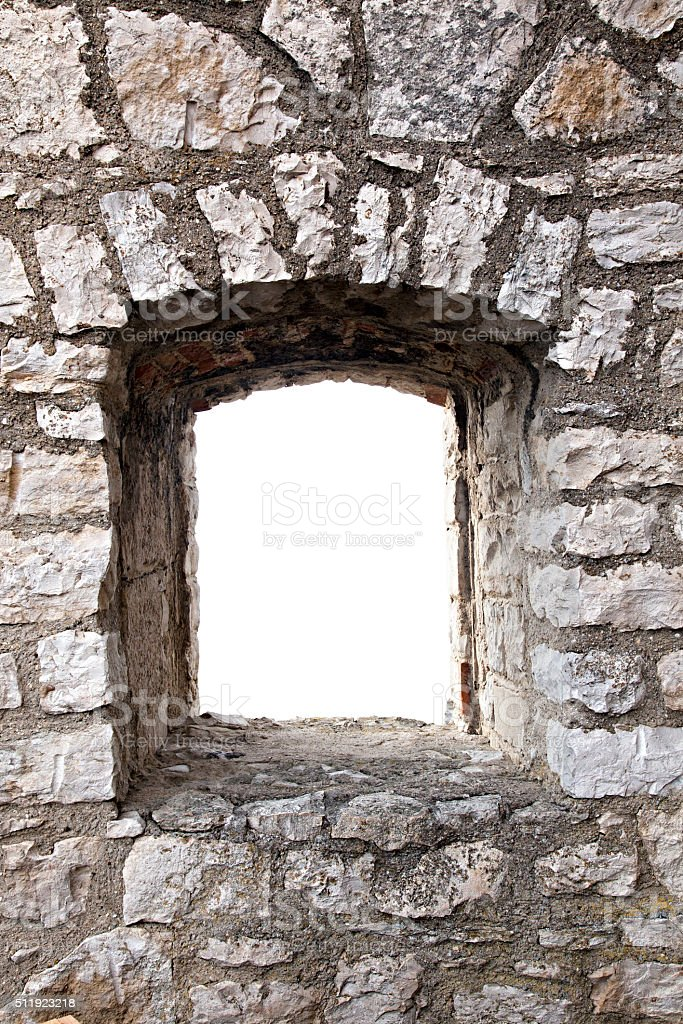 stronghold window stock photo