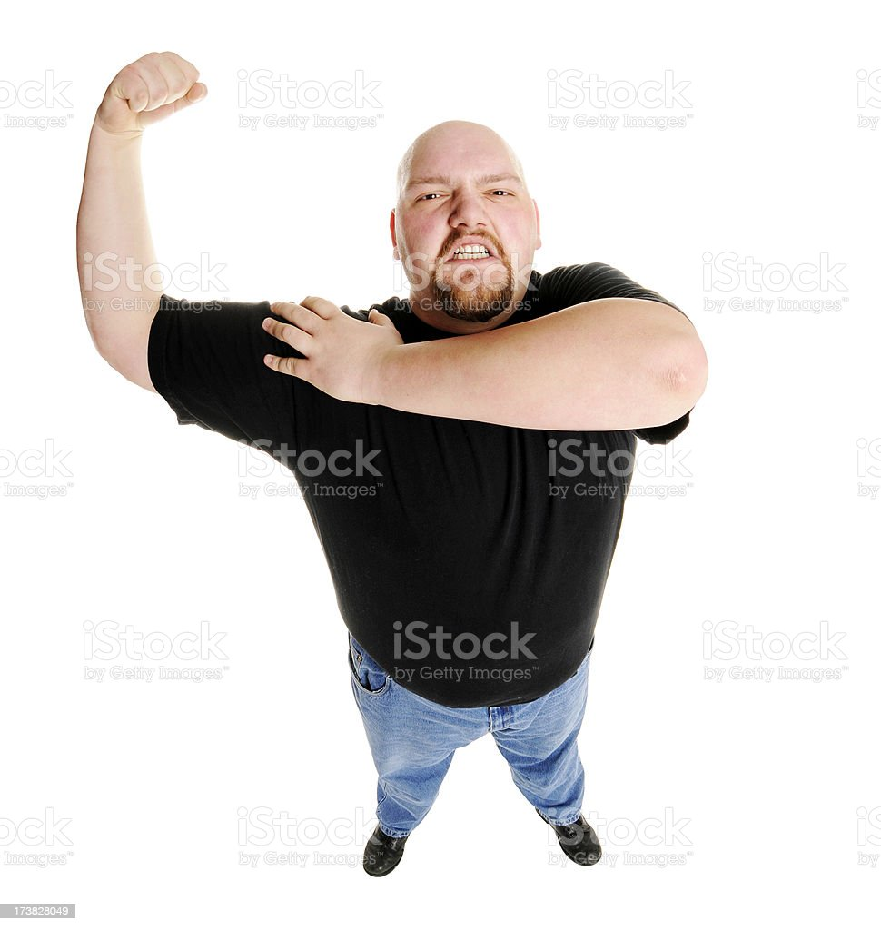 Strongman Bicep royalty-free stock photo