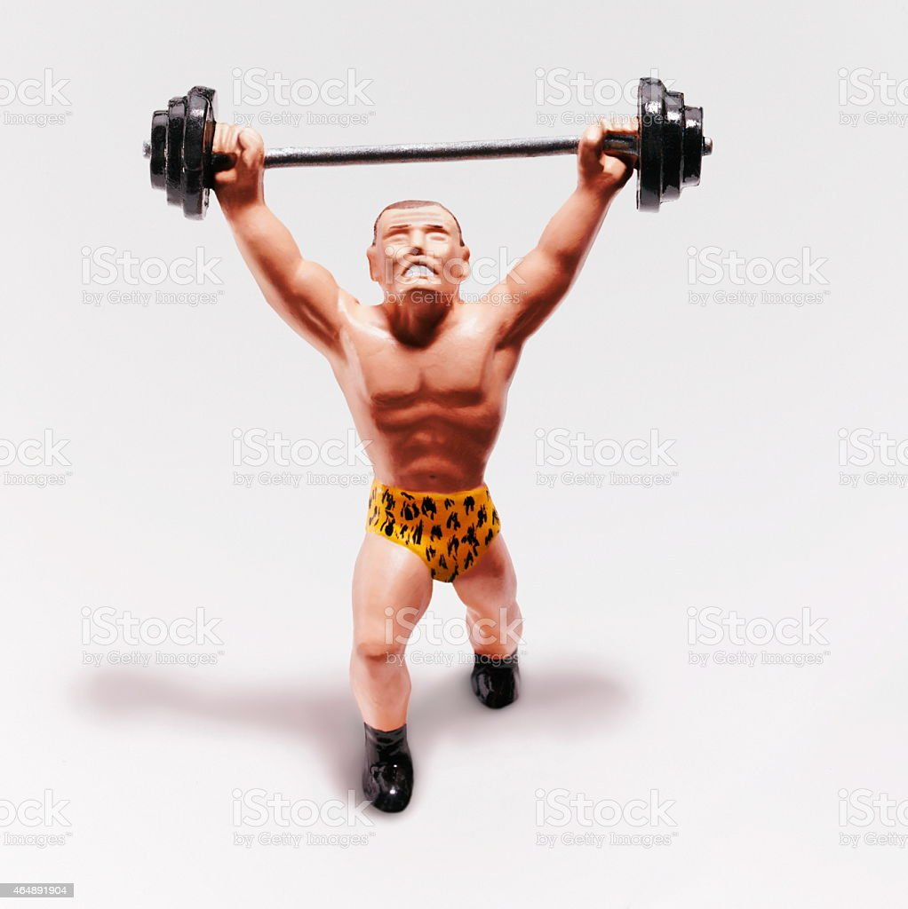 Strongman Lifting Weights stock photo