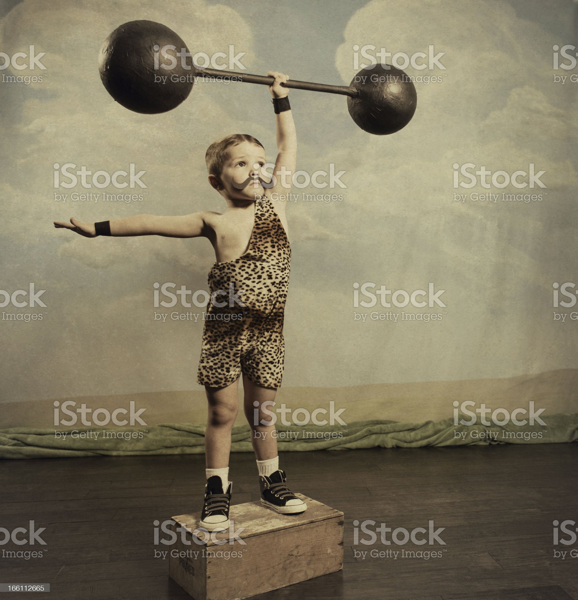 Strongman royalty-free stock photo