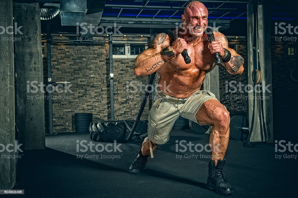 Strongman Training stock photo