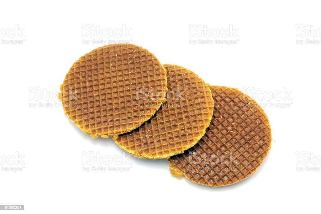Stroopwafels, a real  dutch delicacy royalty-free stock photo