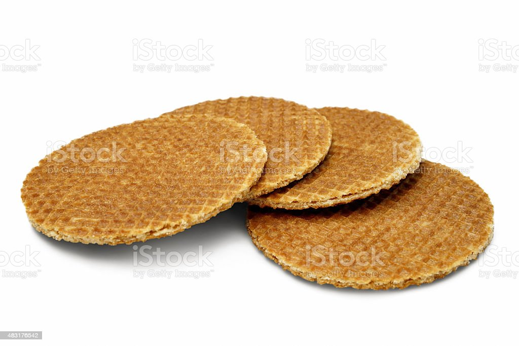Stroopwafels Isolated on White stock photo