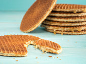Stroopwafels or caramel Dutch Waffles
