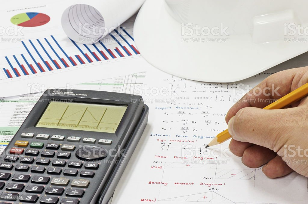 Structural Analysis Calculations stock photo