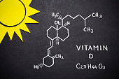 Structural chemical formula of vitamin D