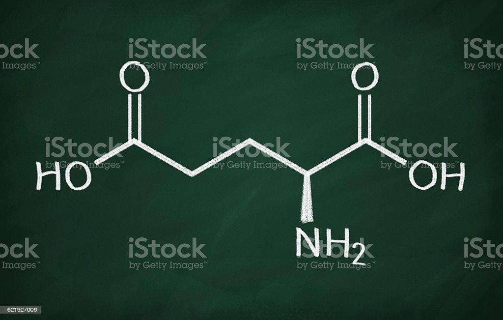 Structural model of Glutamic Acid stock photo