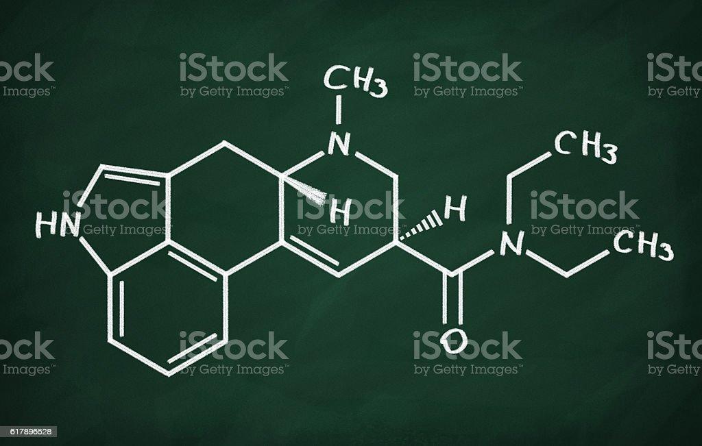 Structural model of LSD stock photo