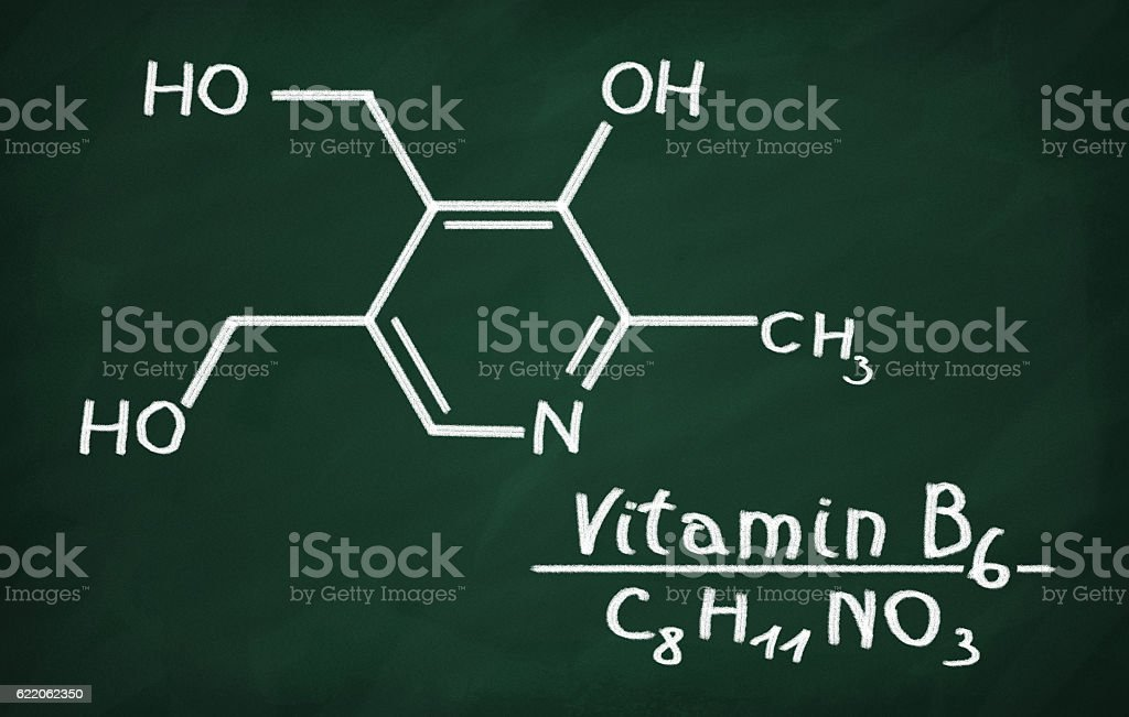 Structural model of Vitamin B6 stock photo