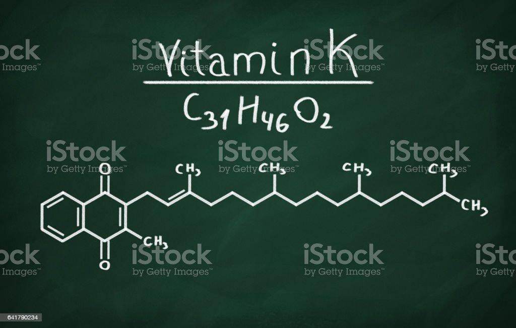 Structural model of Vitamin K stock photo