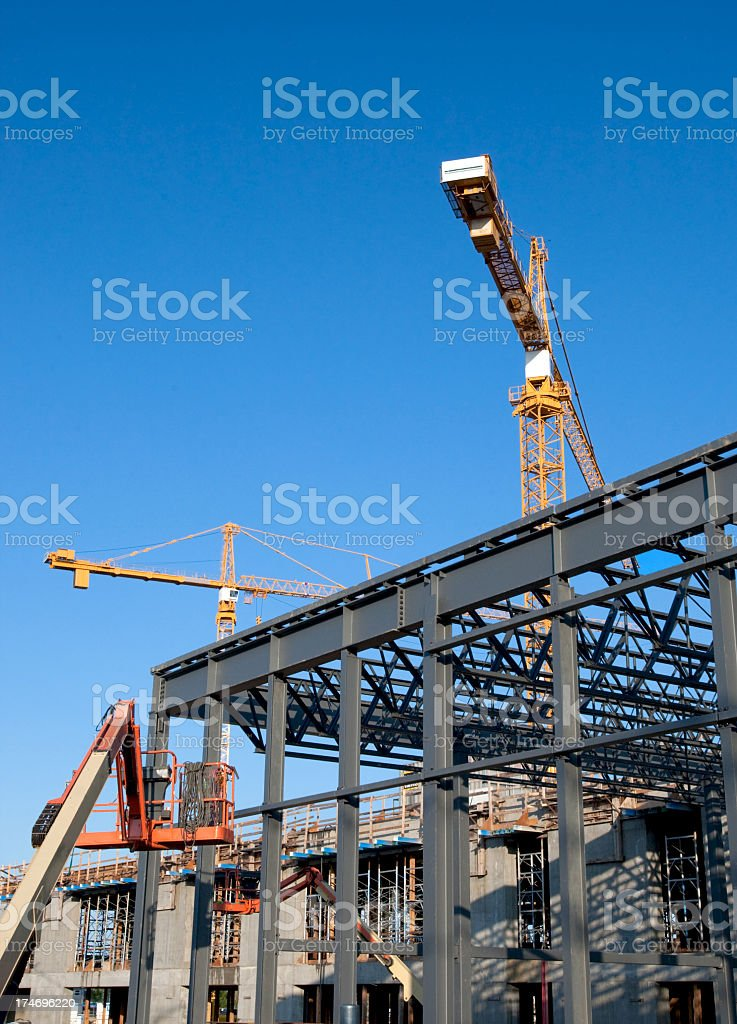 Structural Steel Construction Site stock photo