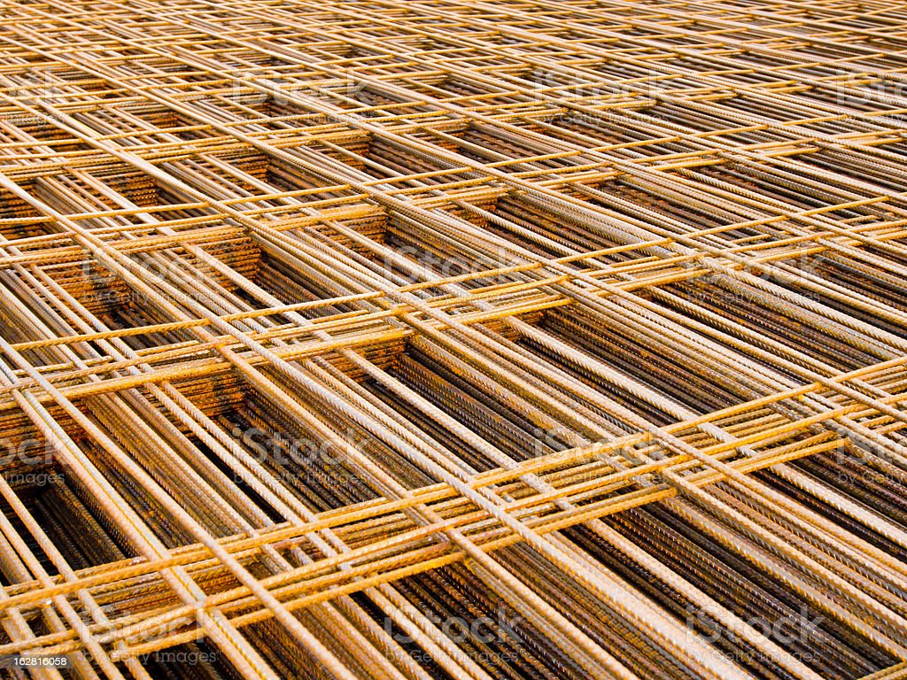 Structural steel in construction. royalty-free stock photo