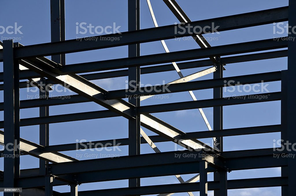 Structural steelwork royalty-free stock photo