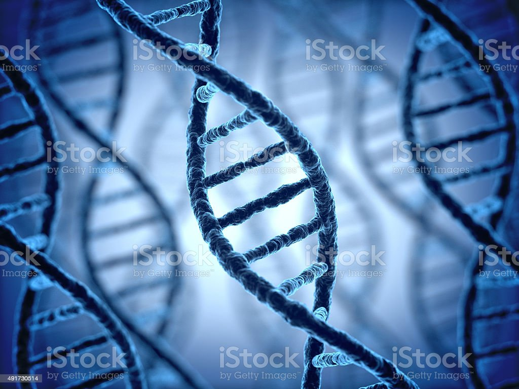 DNA structure 3d background vector art illustration