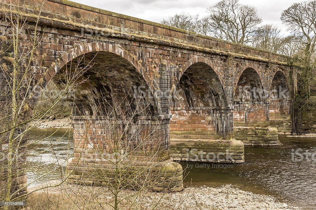 Structure, Bridge, Railway, River, Crossing stock photo