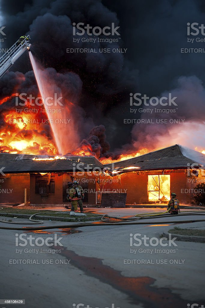 Structure Fire stock photo