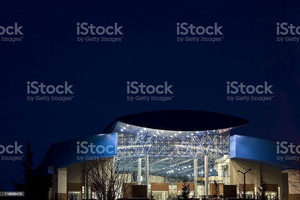 structure in night royalty-free stock photo