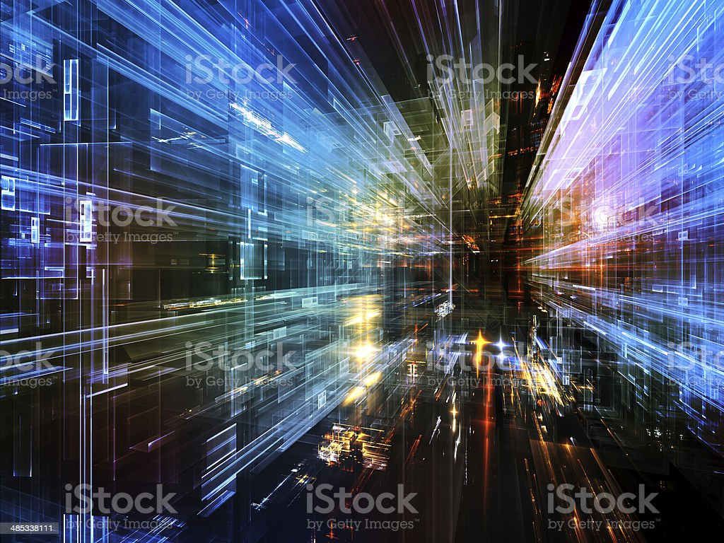 Structure in Space stock photo